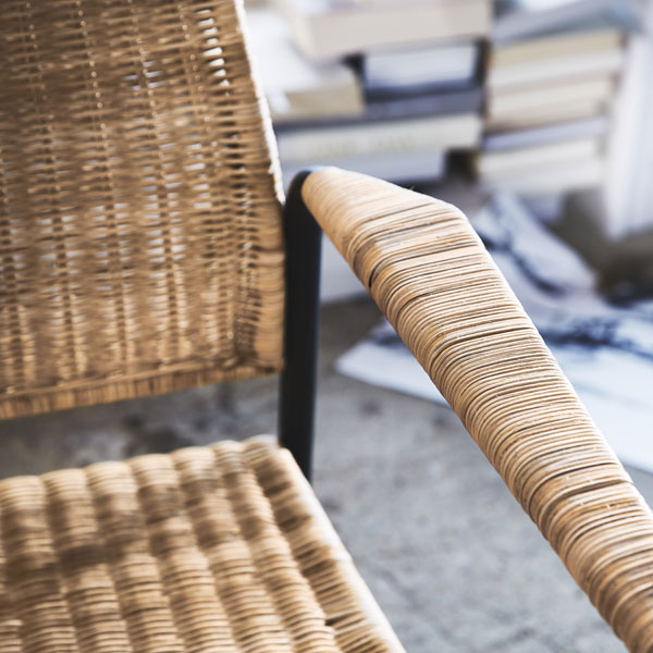 Detail van de ULRIKSBERG rotan stoel van IKEA - via Accessorize your Home
