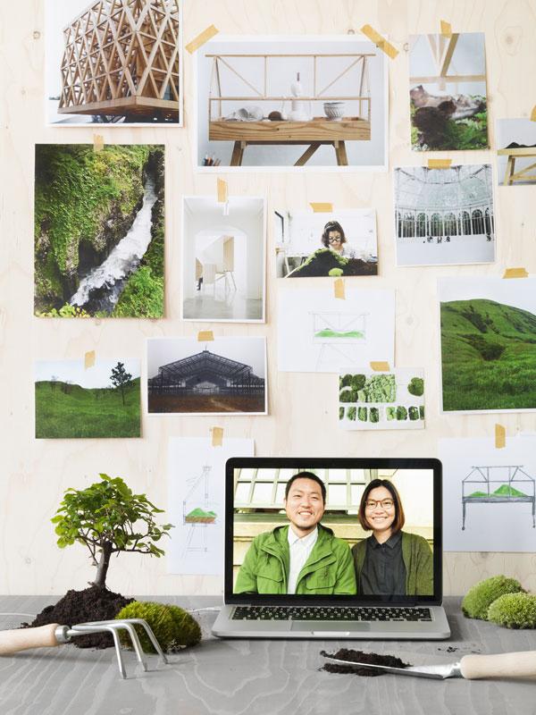 Moodboard over planten en kassen van Atelier 2+ uit Bangkok - via Accessorize your Home