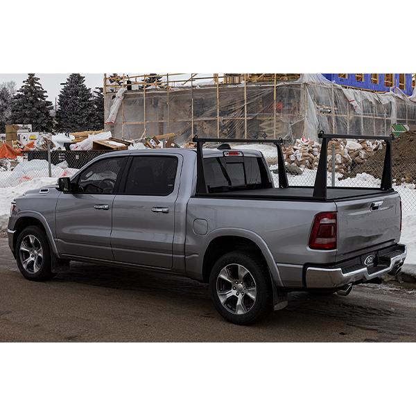 adarac aluminum pro series truck rack system matte black