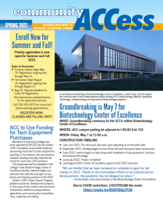 spring 21 access front page image