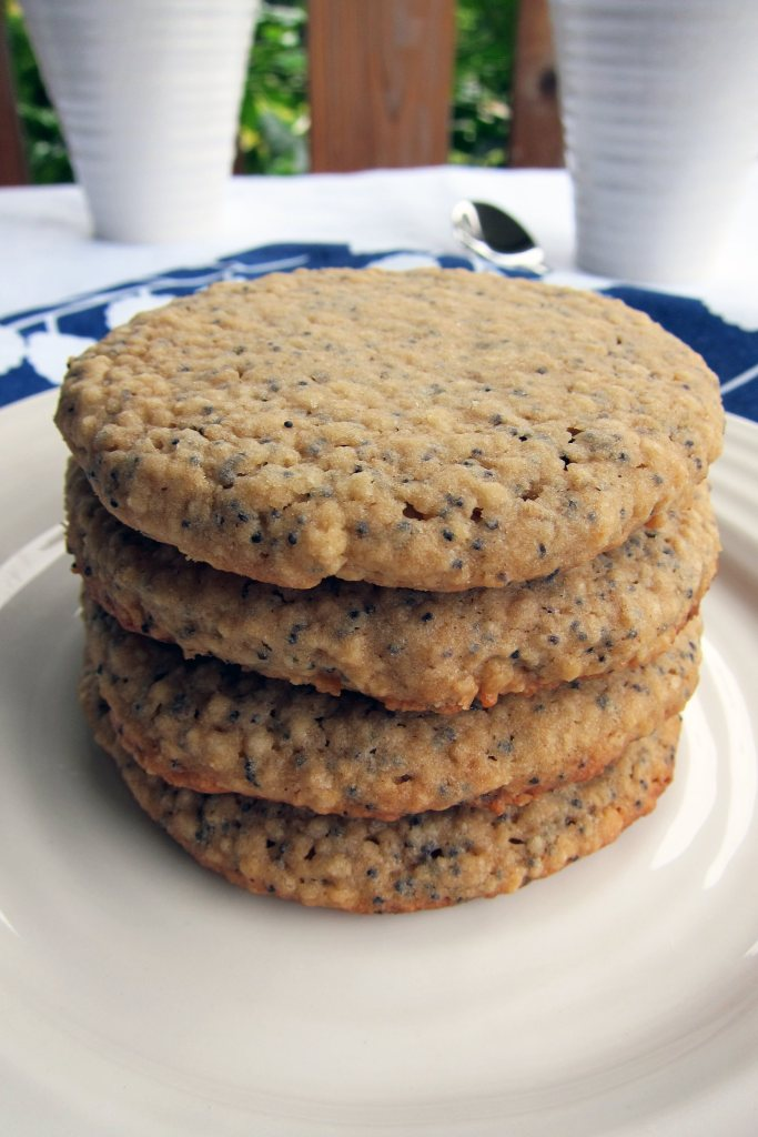Poppy Seed Oatmeal Spelt Cookies | Accidental Artisan