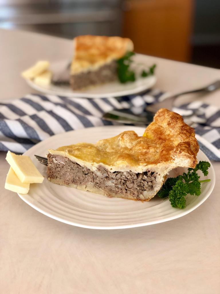 Traditional Tourtiere Pie with Flaky Spelt Pie Crust | Accidental Artisan
