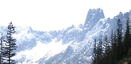 Snowy Mountains surround Leavenworth WA