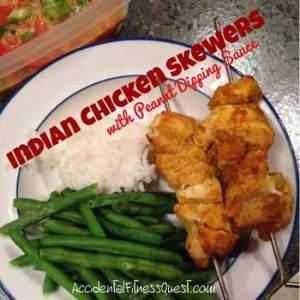 Indian Chicken Skewers