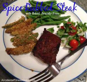 Spice Rubbed Steak with Avocado Fries