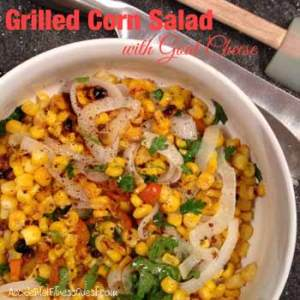 Grilled Corn Salad with Goat Cheese