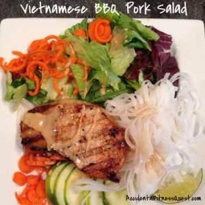 Vietnamese BBQ Pork Salad