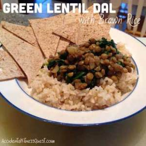 Green Lentil Dal with Brown Rice