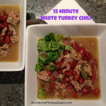 15 Minute White Turkey Chili