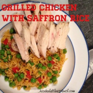Grilled Chicken with Saffron Rice