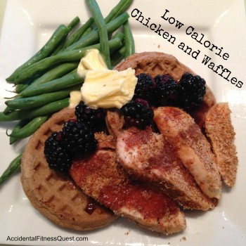Low Calorie Chicken and Waffles