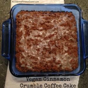 Vegan Cinnamon Crumble Coffee Cake