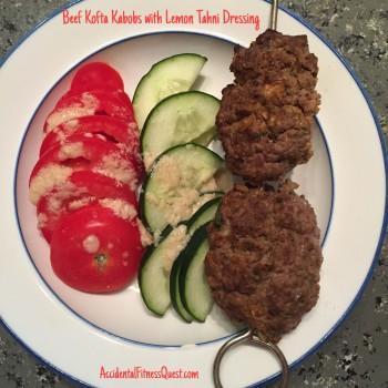 Beef Kofta Kabobs with Lemon Tahini Dressing