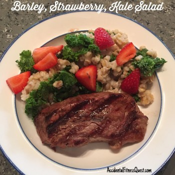 Barley Strawberry Kale Salad