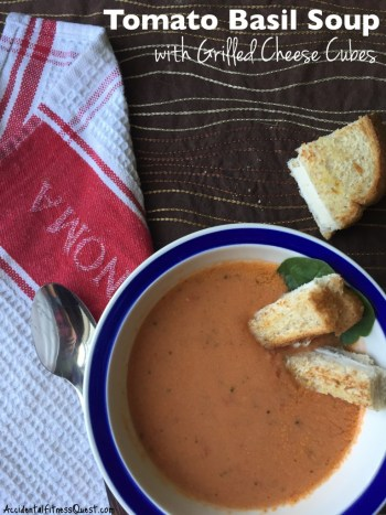 Tomato Basil Soup with Grilled Cheese