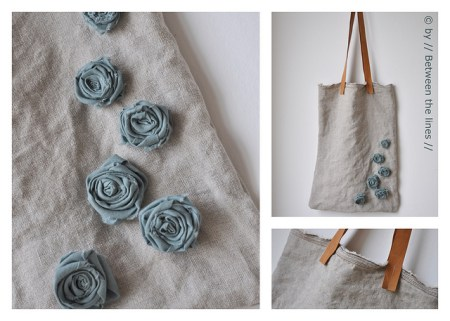 DIY gift idea with fabric flowers by between the lines