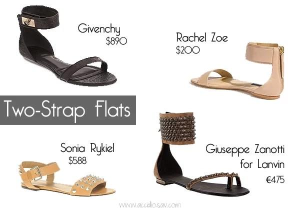 Summer 2012 Shoes Trends: Two-Strap Flat Sandals - www.accidiosav.com