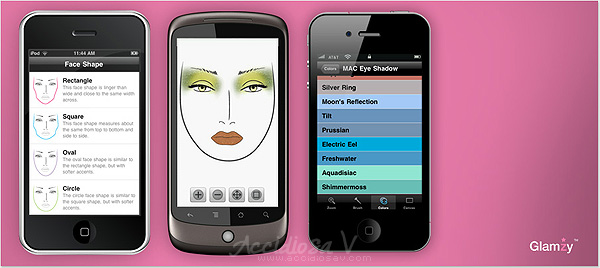 Glamzy: creative mobile makeup. - Android, iPhone, iPod Touch, iPad App - Image © www.accidiosav.com