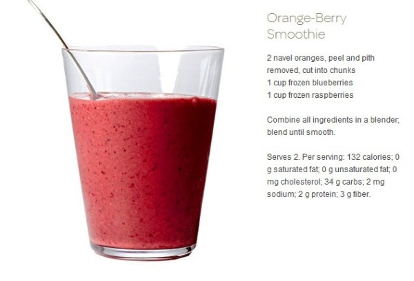 7 Detox Smoothies Recipes: orange berrie