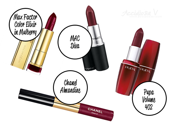 Fall 2012 Makeup Trend: Mulberry Lips (Max Factor, MAC, Pupa, Chanel)