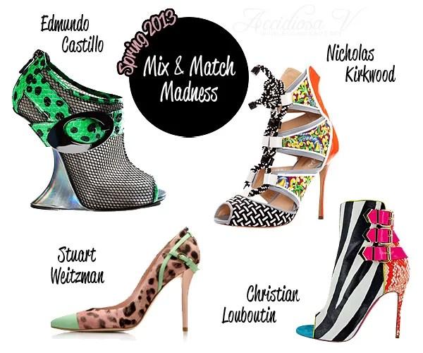 Scarpe Primavera 2013: Mix & Match Madness