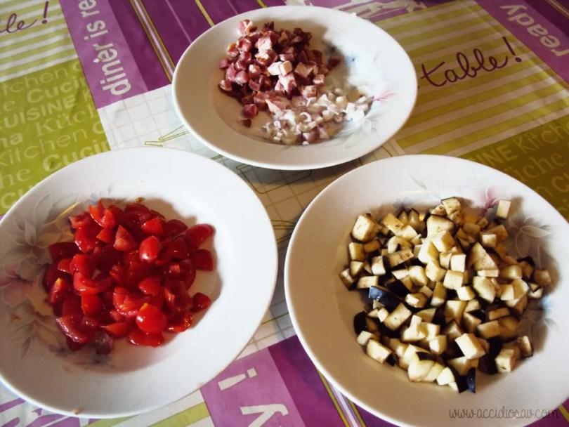 pasta amatriciana con melanzane ricetta accidiosav - ingredienti