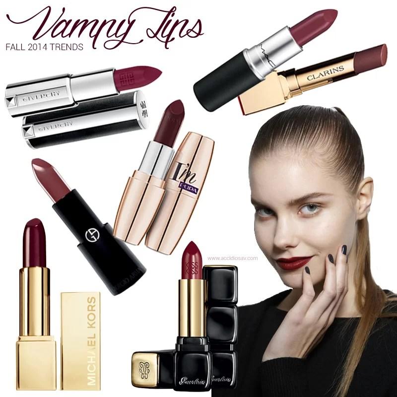 Vampy Lips per l'Autunno 2014: i migliori rossetti dalle collezioni autunnali