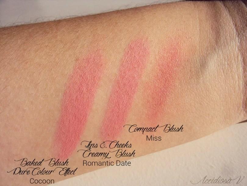 Glossip - Swatch dei blush