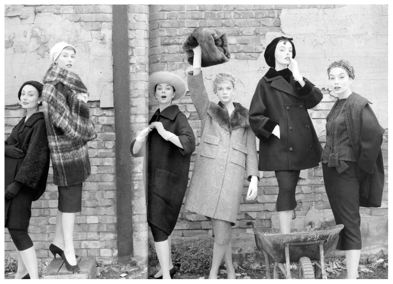 Beauty Icon - Model Nena Von Schlebrugge - Norman Parkinson - Models at London Docks - 1967