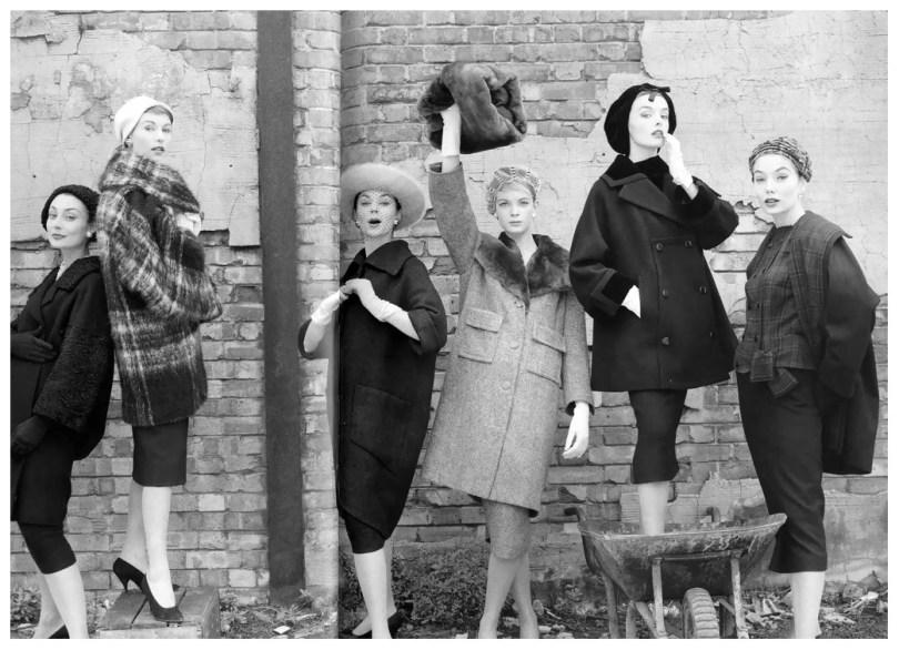 Beauty Icon - Model Nena Von Schlebrugge - Norman Parkinson - Models at London Docks - 1967