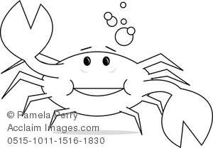 clip art image of a cute cartoon crab coloring page acclaim