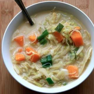 asian coconut cabbage soup