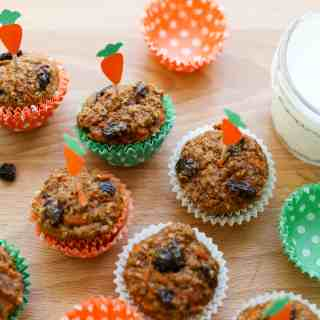 Mini Carrot Cake Bran Muffins