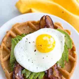 Simple Savory Breakfast Waffles