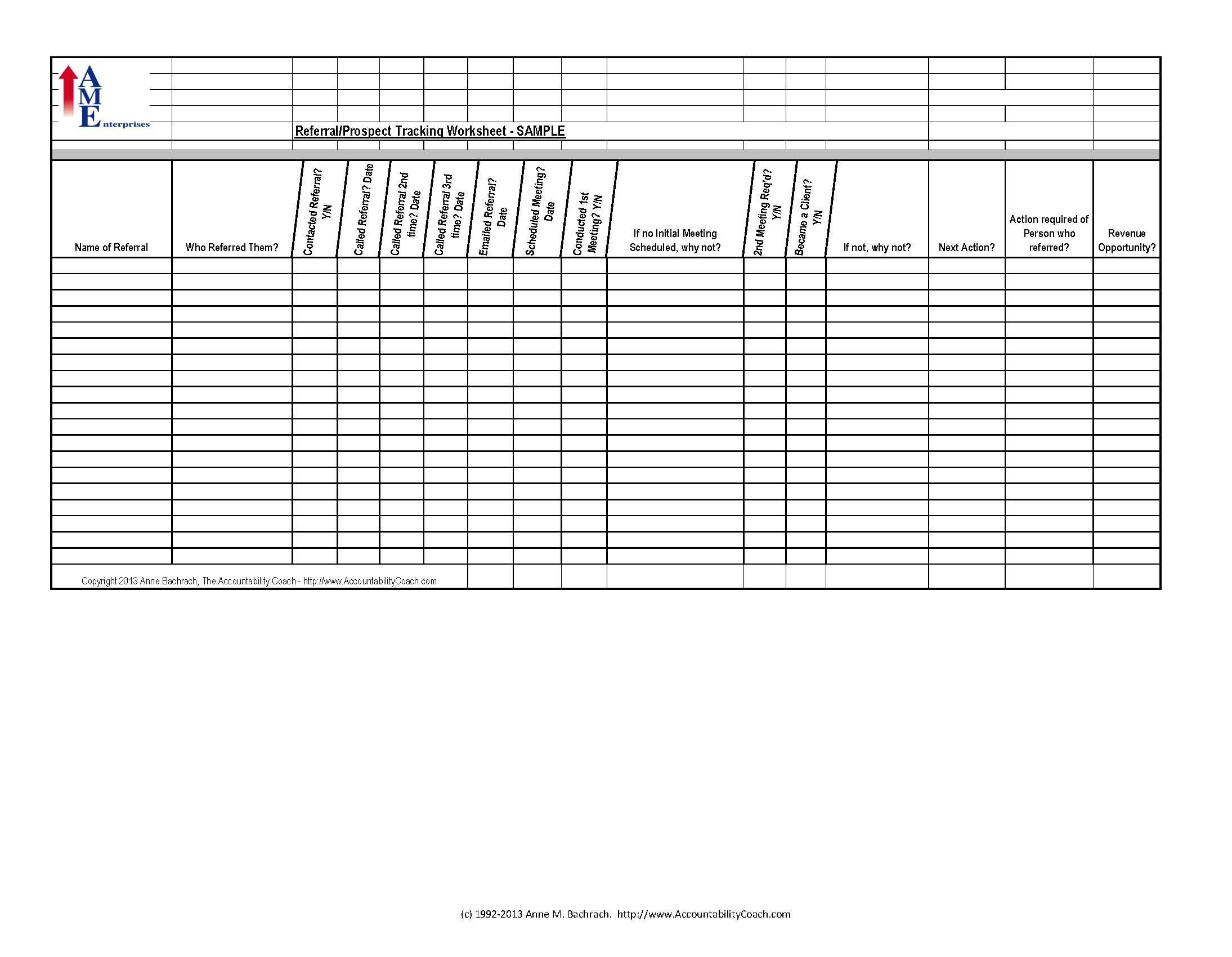 Free Tracking Spreadsheet