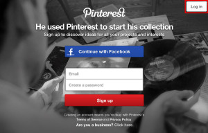 Login on Pinterest