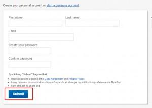 Create eBay account