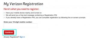 Verizon Wireless Register