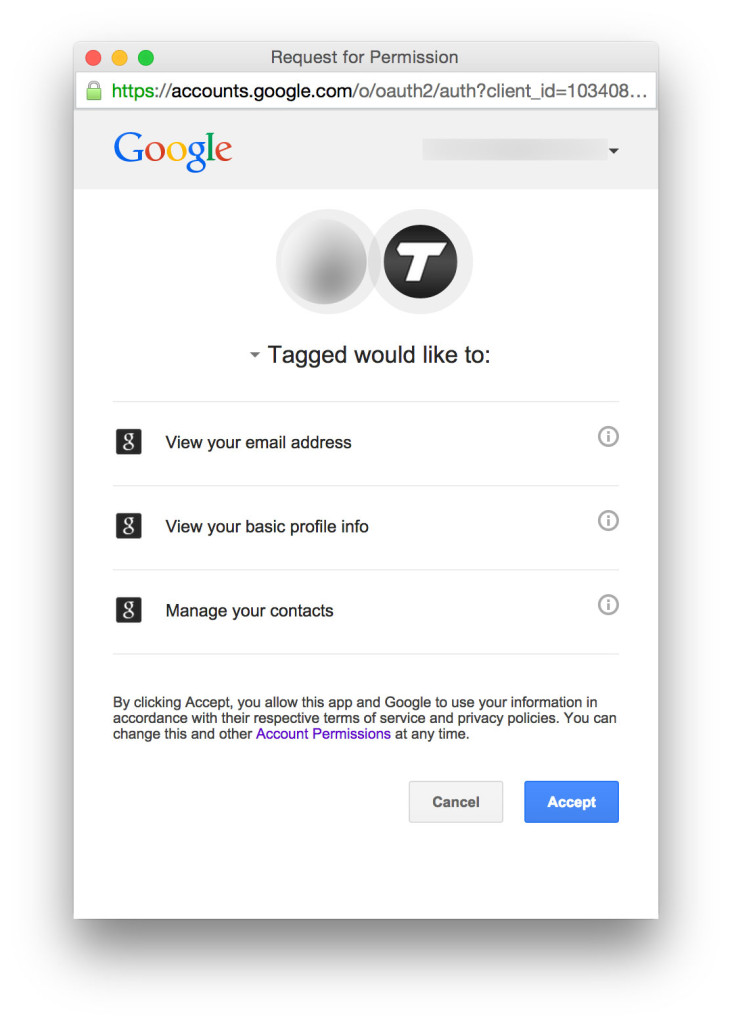 Tagged Google Login
