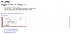 Cox Webmail login