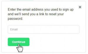 Kickstarter Reset Password
