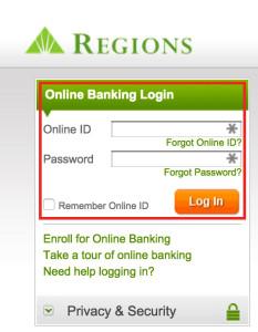 Regions bank login