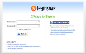 TeamSnap Sign in