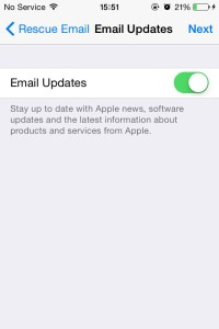 iCloud email updates