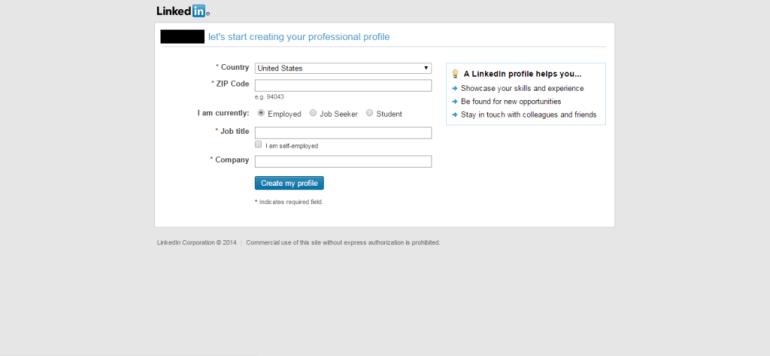 LinkedIn Signup