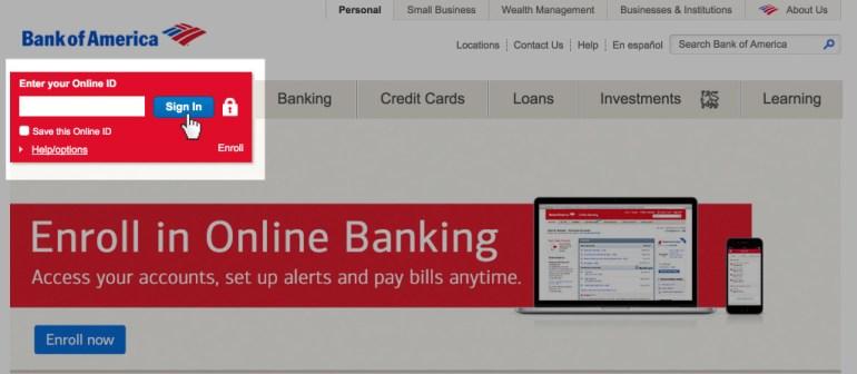 Login Bank of America