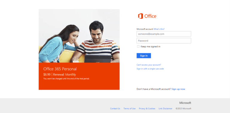Office 365 Sign up