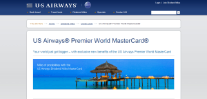 US Airways Mastercard Sign up
