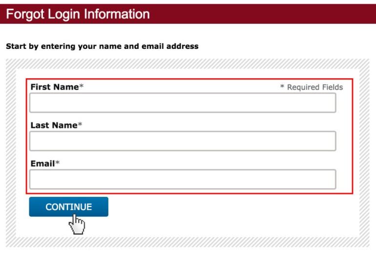 Capella University password reset