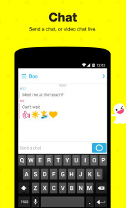 Snapchat Chat Window